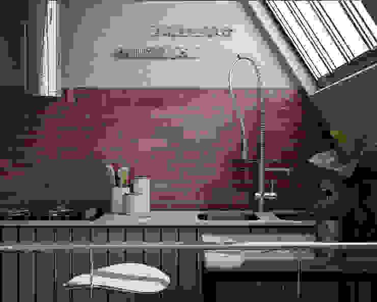 Equipe Ceramicas Built-in kitchens Ceramic Red