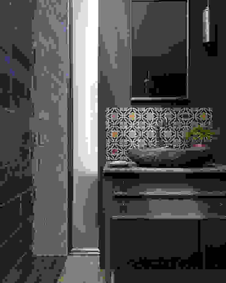 Equipe Ceramicas Mediterranean style bathroom Ceramic Blue