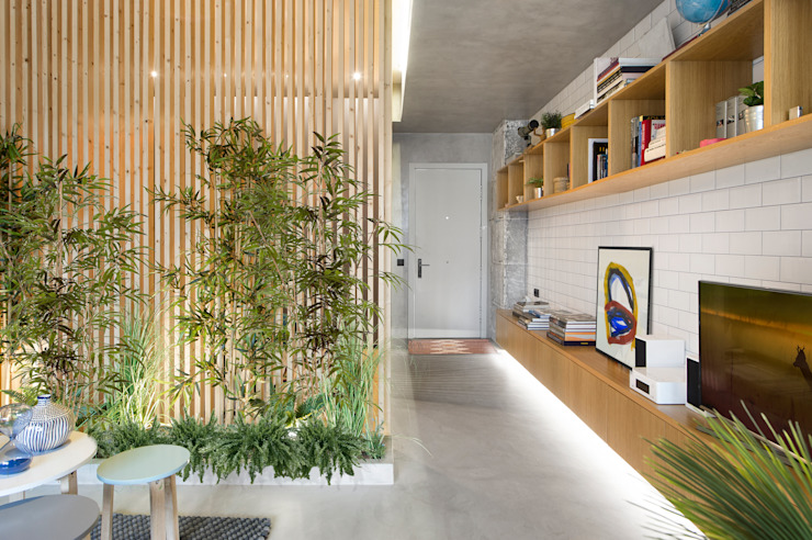 Scandinavian style corridor, hallway& stairs by Egue y Seta Scandinavian