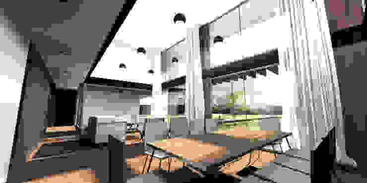 Casa CS - Chicureo II de proyecto arquitek Moderno Aglomerado