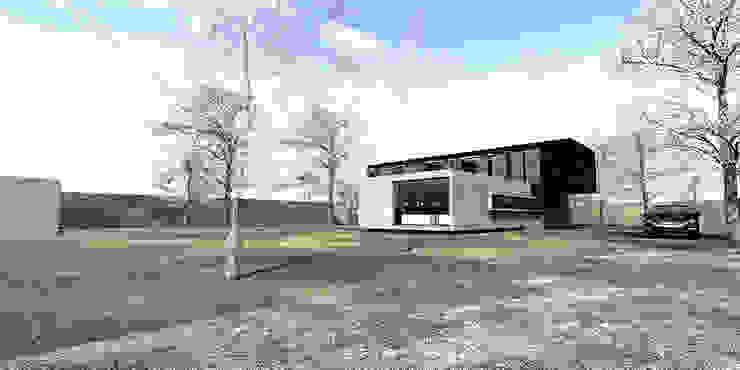Casa MF - Alto de Chicureo de proyecto arquitek Minimalista Concreto reforzado