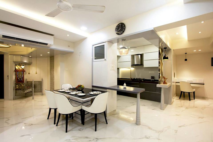 MR.KISHOR BHANUSHALI Modern dining room by PSQUAREDESIGNS Modern