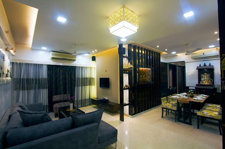 DR.VENKATESH AND DR.MADHUSHREE Modern living room by PSQUAREDESIGNS Modern