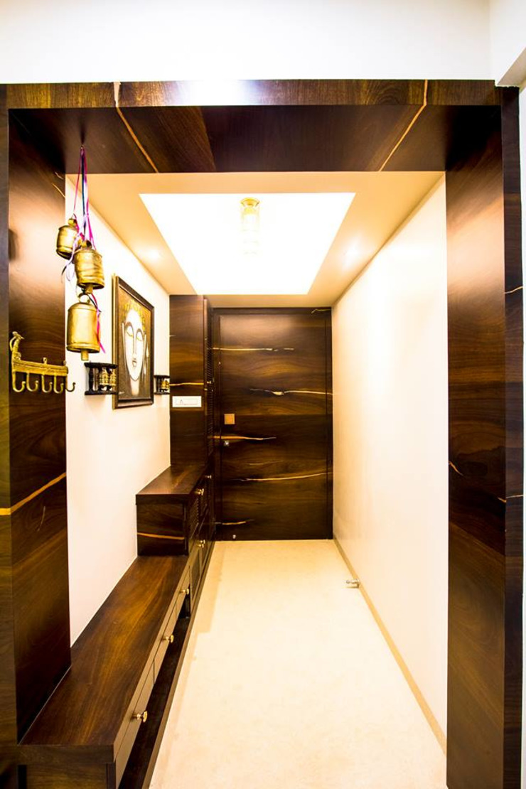 DR.VENKATESH AND DR.MADHUSHREE Modern corridor, hallway & stairs by PSQUAREDESIGNS Modern