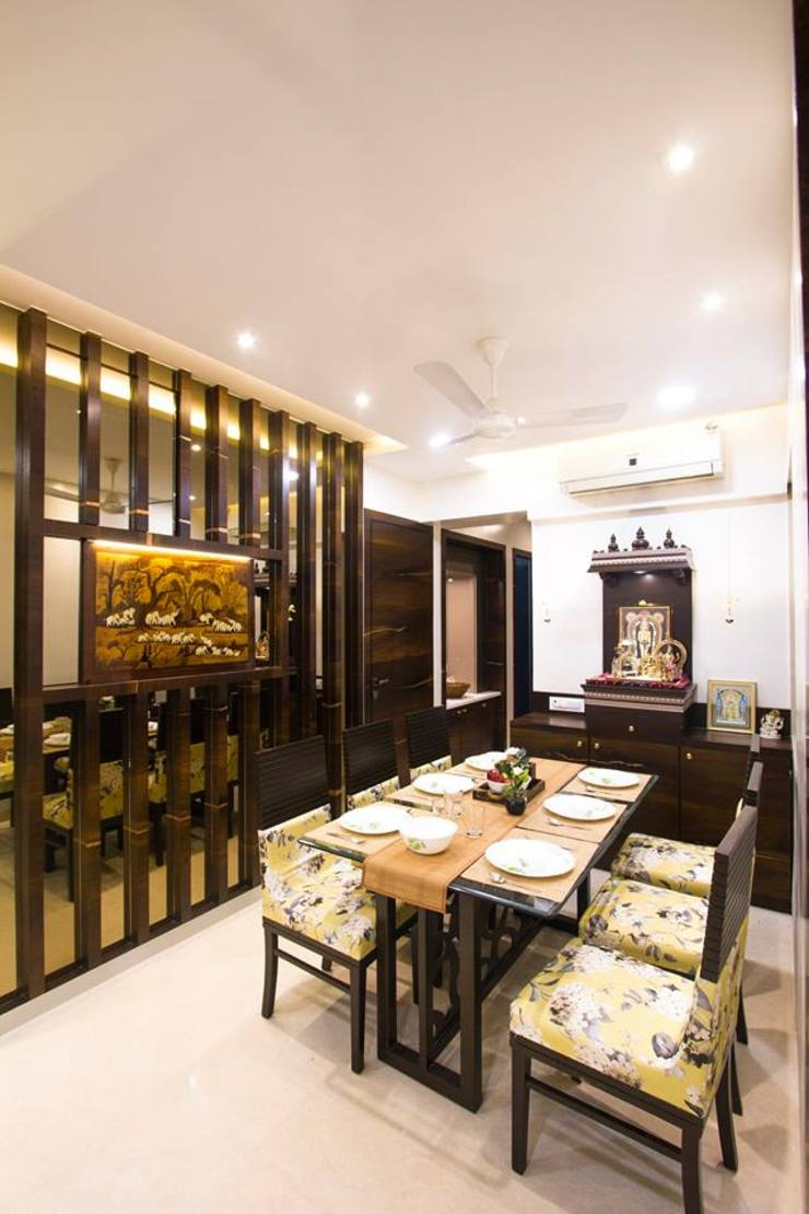 DR.VENKATESH AND DR.MADHUSHREE Modern dining room by PSQUAREDESIGNS Modern