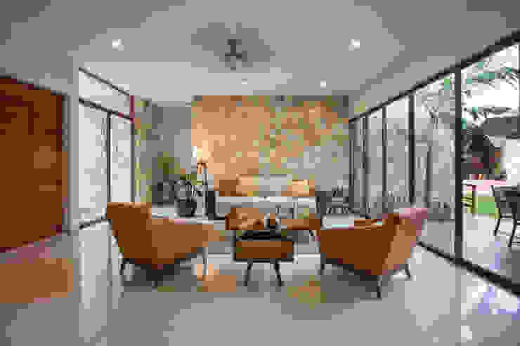 Modern living room by Heftye Arquitectura Modern Limestone
