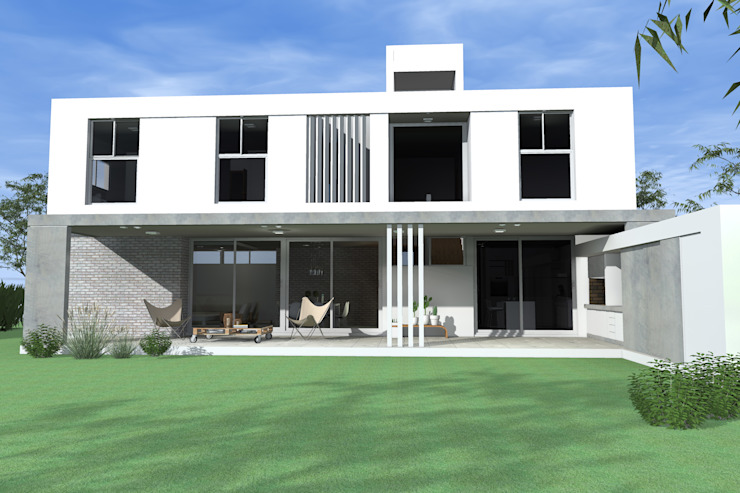 Fachada al parque de Arquitectura Bur Zurita Moderno