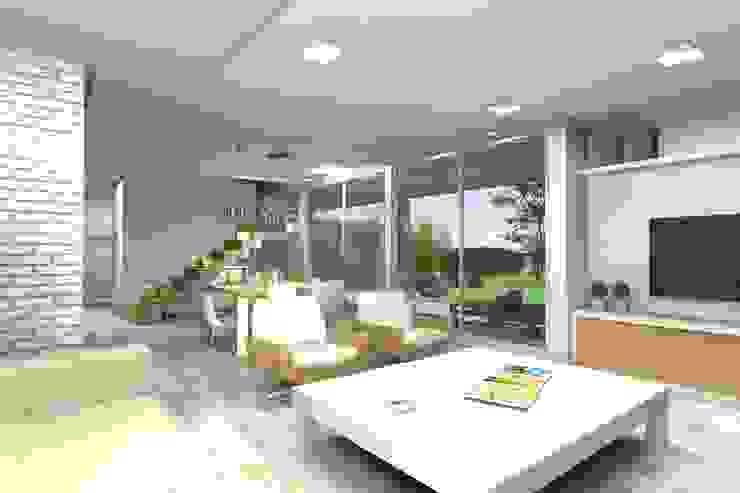 Estar comedor . Espacio principal Livings modernos: Ideas, imágenes y decoración de Arquitectura Bur Zurita Moderno
