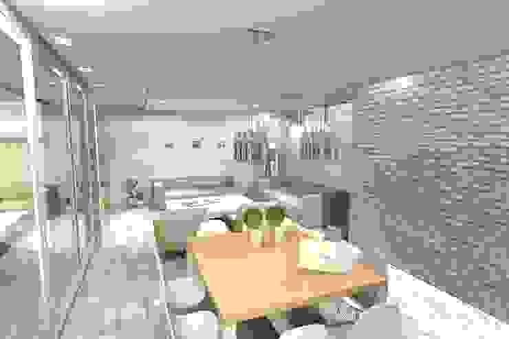 Comedor principal Livings modernos: Ideas, imágenes y decoración de Arquitectura Bur Zurita Moderno