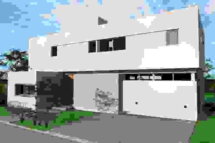 Fachada de frente de Arquitectura Bur Zurita Moderno