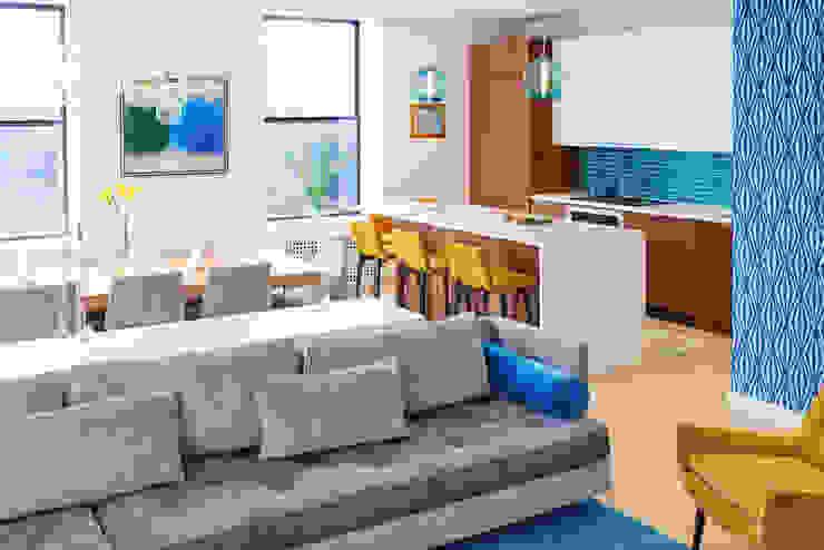 Tribeca Apartment Modern Living Room by Sarah Jefferys Design Modern