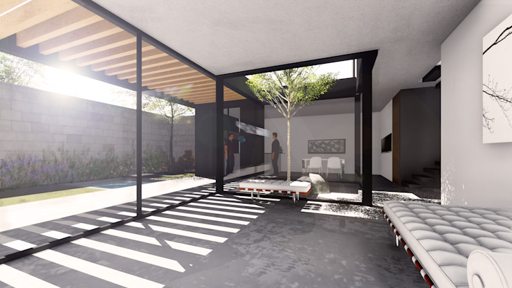 by gOO Arquitectos Industrial Concrete