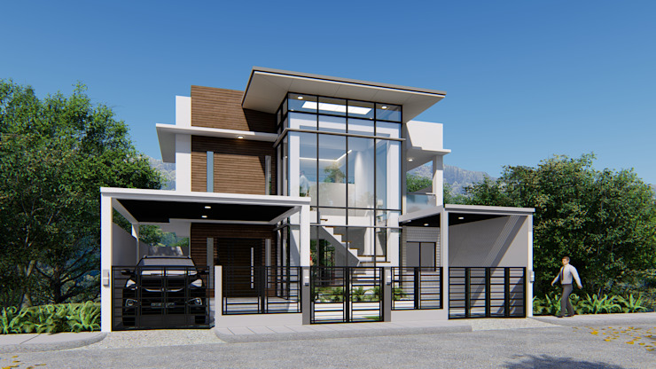 2 STOREY KUBO HOUSE Modern home by Yaoto Design Studio Modern