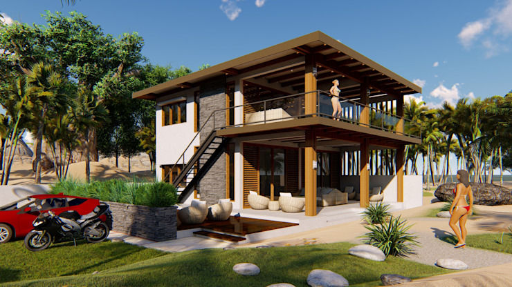 2 STOREY LALAINE BEACH HOUSE Modern home by Yaoto Design Studio Modern