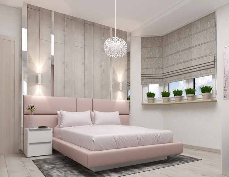 Chambre scandinave par Yana Ikrina Design Scandinave Bois Effet bois