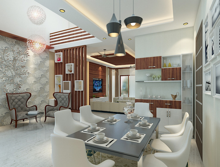 Independent Villa - Pune DECOR DREAMS Modern dining room