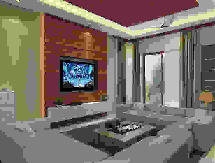Independent Villa - Pune Modern living room by DECOR DREAMS Modern