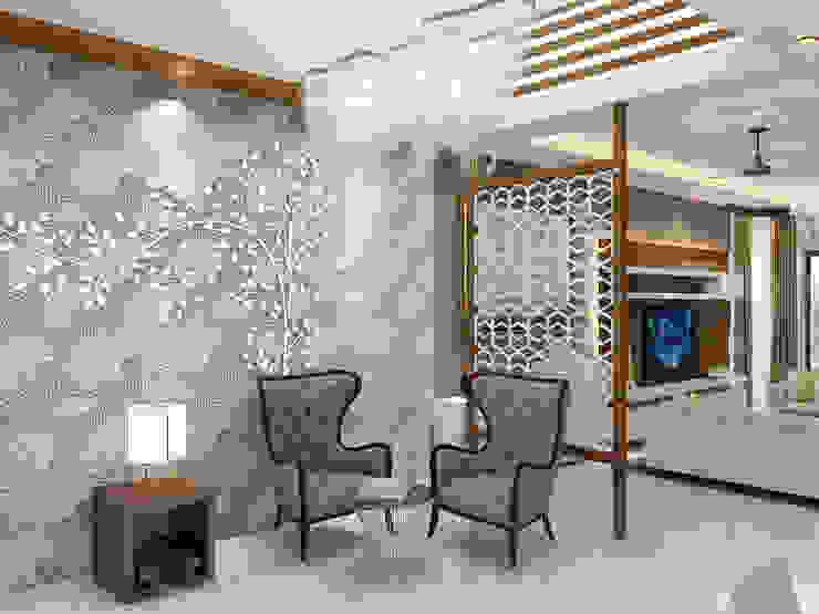 Independent Villa - Pune Modern corridor, hallway & stairs by DECOR DREAMS Modern