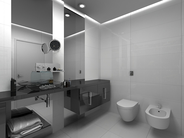 Grupo DH arquitetura BañosDecoración Gris
