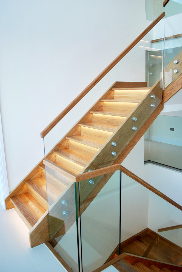 Family Home in Swanage, Dorset David James Architects & Partners Ltd Stairs