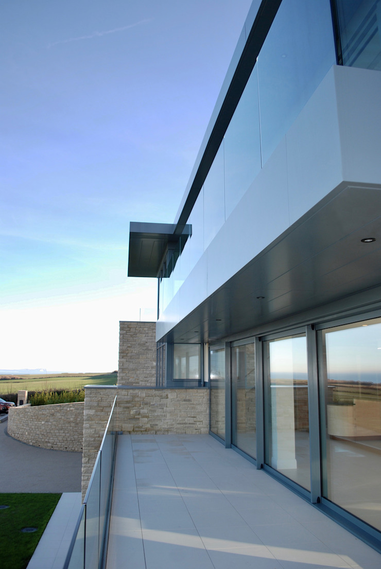 Family Home in Swanage, Dorset Modern Terrace by David James Architects & Partners Ltd Modern