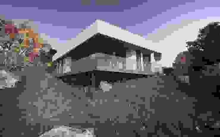 HOUSE BY THE RIVER von Tobi Architects Minimalistisch