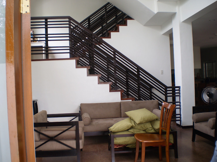 Stairs of Reconstructed HC-Residence by KDA Design + Architecture Tropical