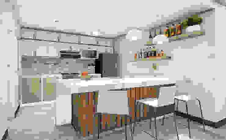 Projekty,  Kuchnia na wymiar zaprojektowane przez Minkarq. Arquitectura y construcción