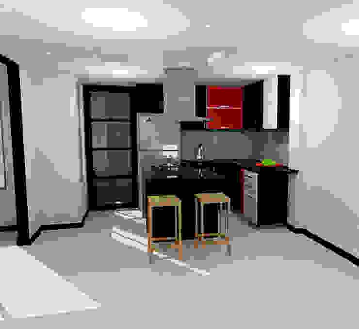 by Omar Interior Designer Empresa de Diseño Interior, remodelacion, Cocinas integrales, Decoración Modern Chipboard