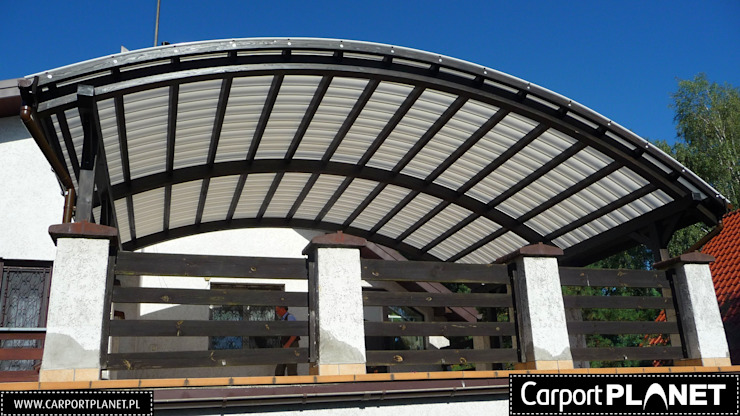 Carport Planet Minimalist balcony, veranda & terrace