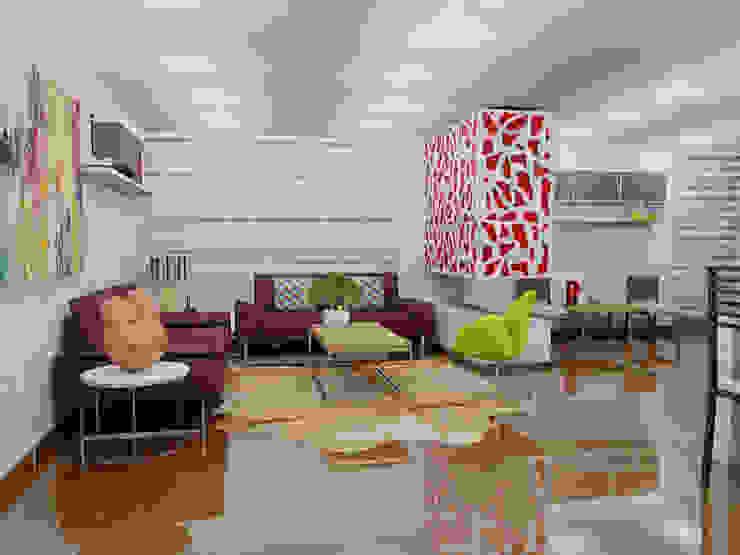 Ciudad Salitre Occidental: Salas de estilo  por Omar Interior Designer  Empresa de  Diseño Interior, remodelacion, Cocinas integrales, Decoración,