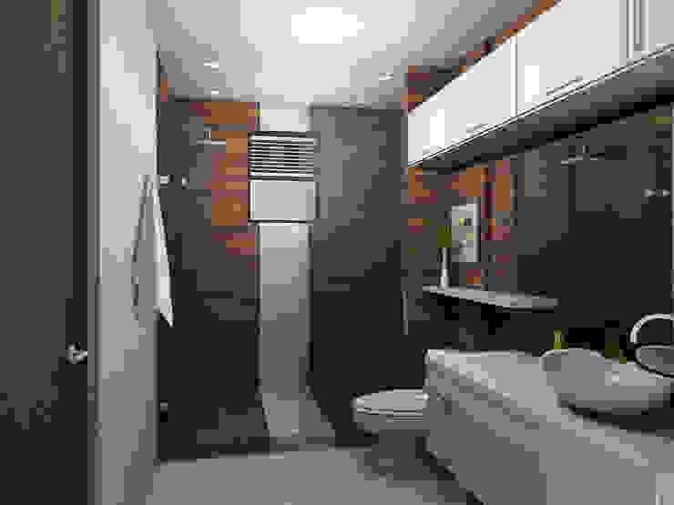 propuesta de baño Baños de estilo moderno de Omar Interior Designer Empresa de Diseño Interior, remodelacion, Cocinas integrales, Decoración Moderno Cerámico