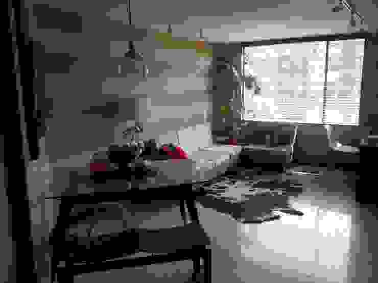 Sala comedor y estudio de Omar Interior Designer Empresa de Diseño Interior, remodelacion, Cocinas integrales, Decoración