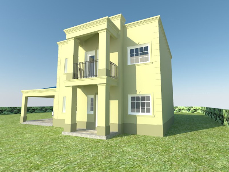 ESPACIO ARQ - Estudio Rumah tinggal Batu Bata Yellow