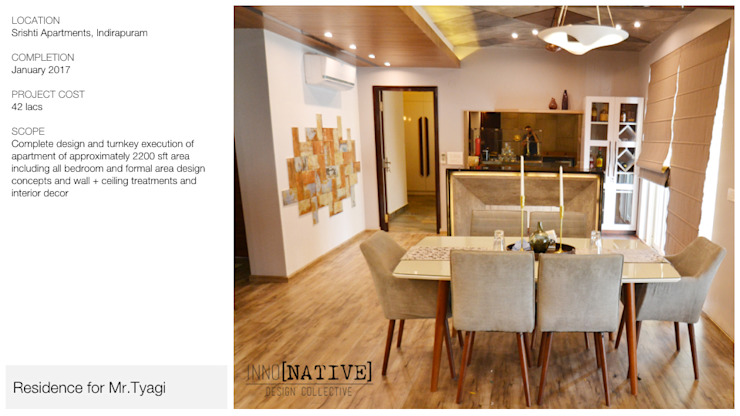 Apartment | Indirapuram Modern living room by Inno[NATIVE] Design Collective Modern