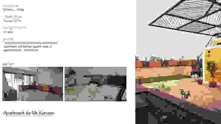 Apartment + Terrace Garden | Noida Mediterranean style balcony, veranda & terrace by Inno[NATIVE] Design Collective Mediterranean
