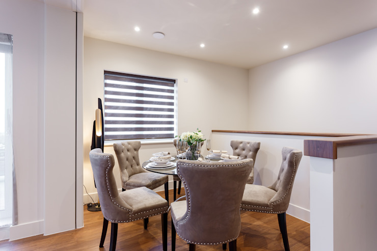 Penthouse interior by SMB Interior Design SMB Interior Design Ltd Modern dining room