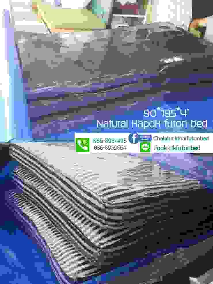 ที่นอนญี่ปุ่น เบาะนอนสไตล์ญี่ปุ่นฟุตง traditional japanese futon bed: ที่เรียบง่าย  โดย chalaluck, มินิมัล สิ่งทอ Amber/Gold
