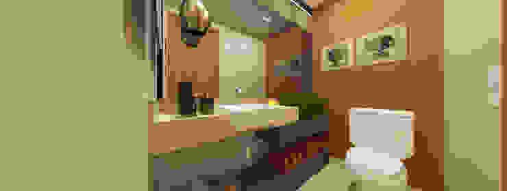 INOVAT Arquitetura e interiores Modern bathroom Wood Wood effect