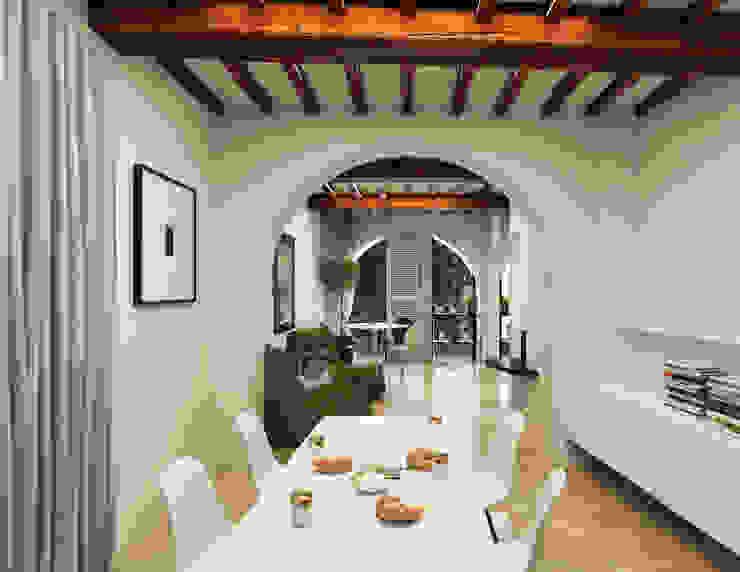 Pranzo - Casa in Via San Martino - Pisa Soggiorno moderno di Studio Bennardi - Architettura & Design Moderno