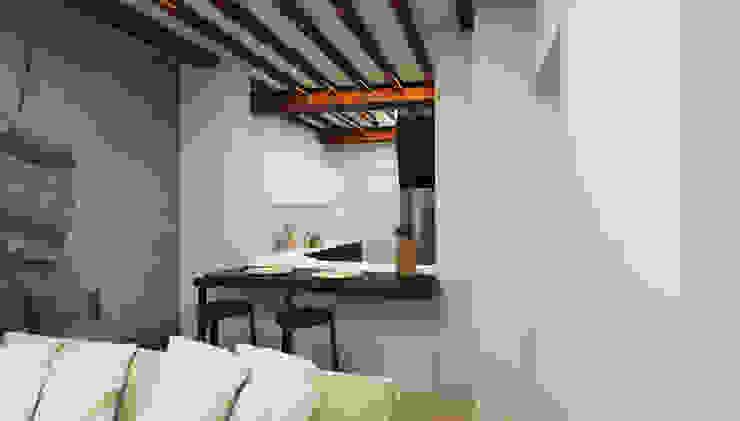 spazio bar, cucina a vista - Casa in Via San Martino - Pisa Soggiorno moderno di Studio Bennardi - Architettura & Design Moderno