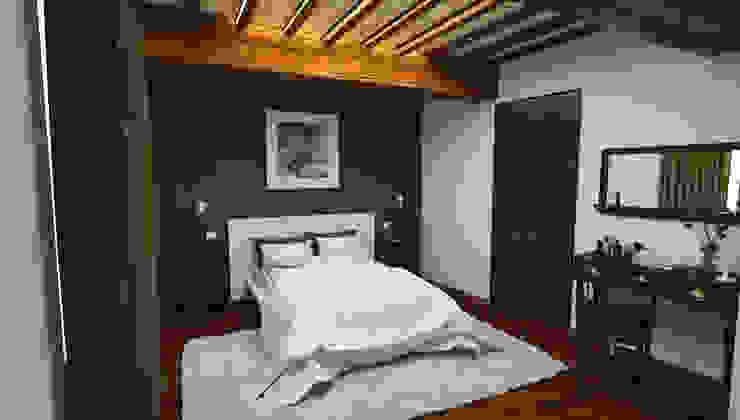 camera grande - Casa in Via San Martino - Pisa Camera da letto moderna di Studio Bennardi - Architettura & Design Moderno