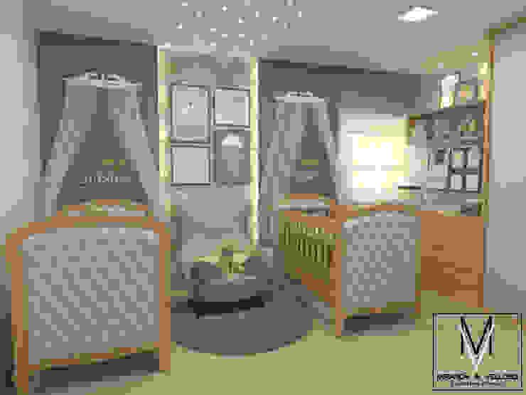 Miranda & Velloso Arquitetura e Design Dormitorios de bebé Madera Azul