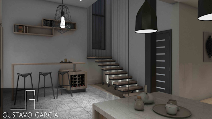 Interiorismo Casa De Sousa Baños de estilo moderno de Arq. Gustavo García Moderno