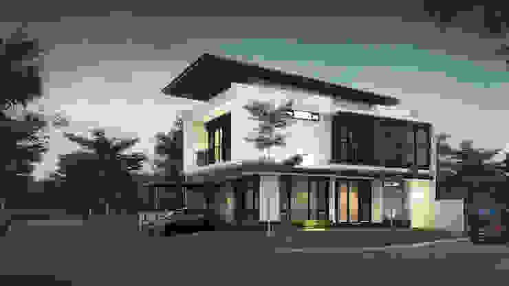 P House Oleh perezjanuar architects Modern Kayu Wood effect
