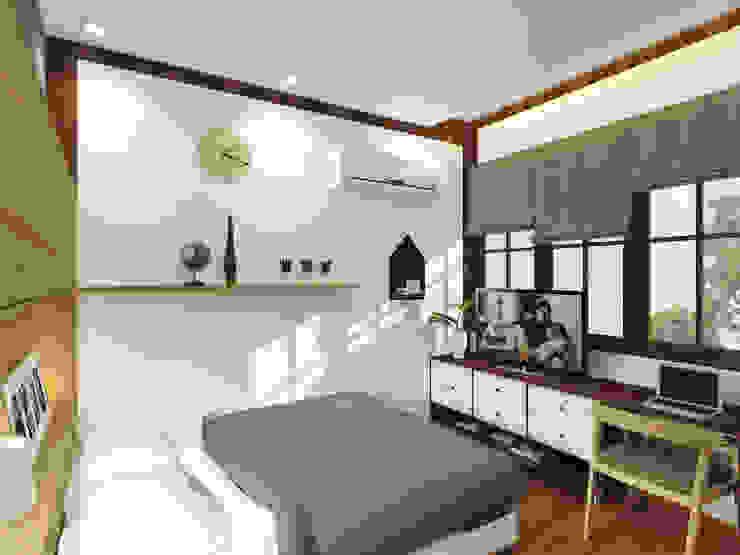 Mr. Teuku Irmasnyah Bedroom Design Kamar Tidur Modern Oleh SEKALA Studio Modern Kayu Lapis