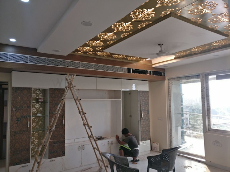 Simple and Attractive Ceiling for Media Room: modern  by HOME CITY LIFESTYLE,Modern MDF