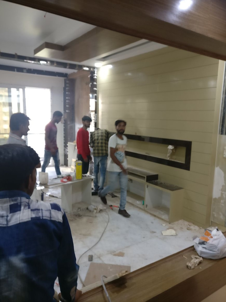 A Residence Design, Omaxe Forest, Noida: modern  by HOME CITY LIFESTYLE,Modern Plywood