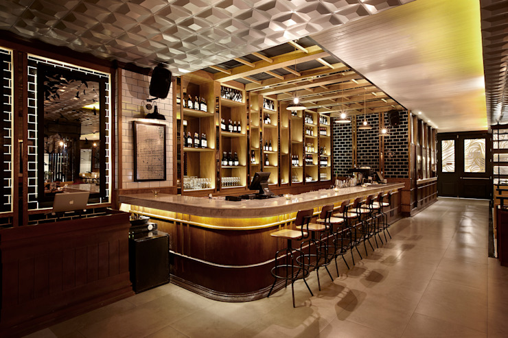 Blend Wine and Co Gastronomi Gaya Eklektik Oleh High Street Eklektik Kayu Wood effect