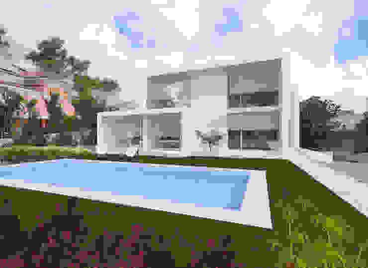 Moradia Unifamiliar - Quinta da Beloura, Sintra núcleo B arquitetos Branco